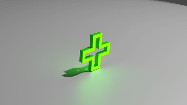 Аптечный крест с внутренней подсветкой
