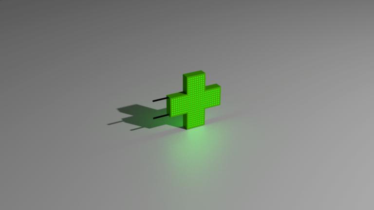 Пиксельный аптечный крест